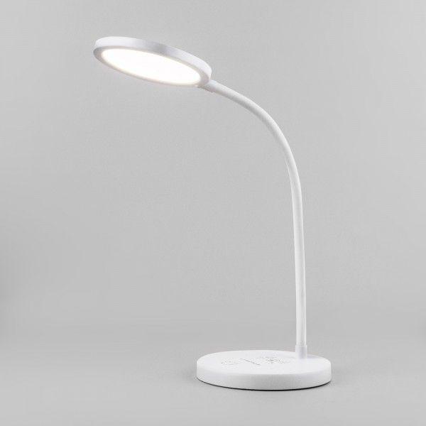 Светодиодная настольная лампа с беспроводной зарядкой QI Tiara белый (TL90560)