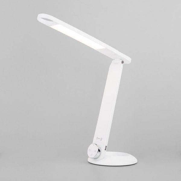 Светодиодная настольная лампа с беспроводной зарядкой 80428/1 белый