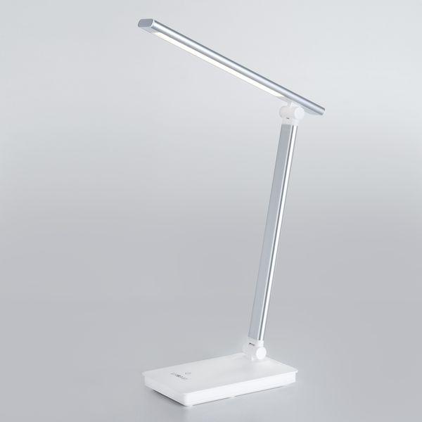 Светодиодная настольная лампа с сенсорным управлением 80423/1 серебристый